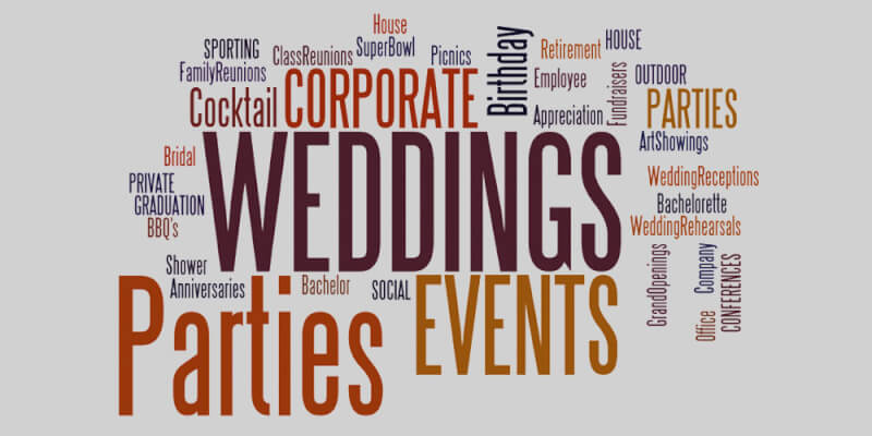 An image representing the various types of event planning services.